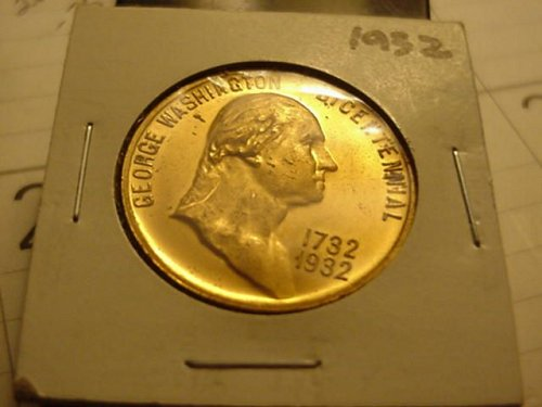 1932  antique george washington bicentennial medallion