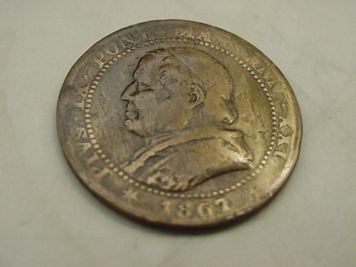 1867-r  1 soldo vatican papal state