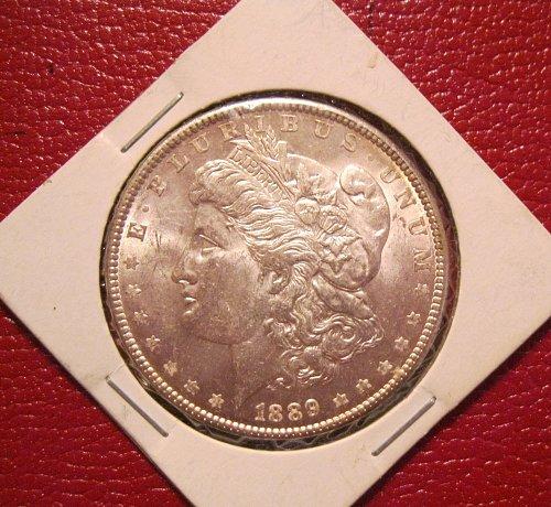 1889-P Morgan Silver Dollar, MS, BU, UNC.