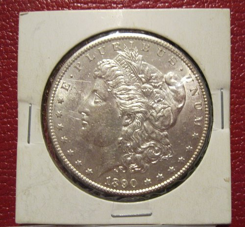 1890-S Morgan Silver Dollar, MS, BU, UNC.