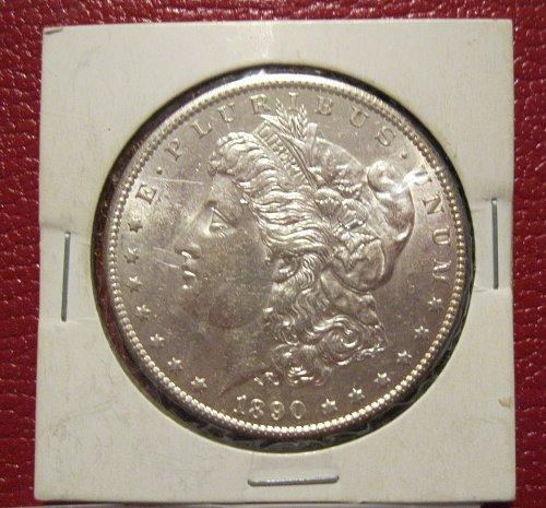 1890-S Morgan Silver Dollar, MS, BU, UNC.