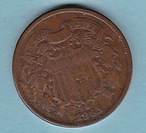 1865 2c TWO CENT Piece *** good details*****(n199))