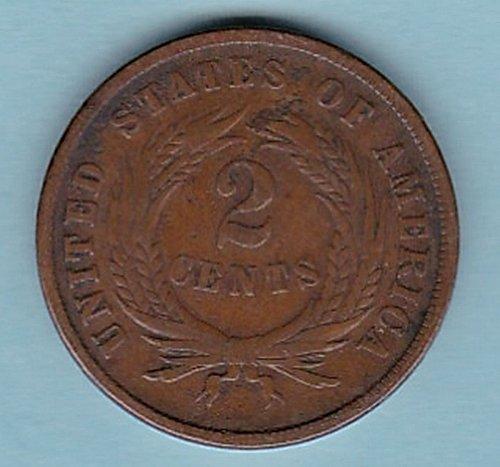 1865 2c TWO CENT Piece *** good details*****(n199))