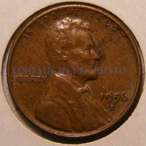 1956-D Lincoln Cent OMM 001 FS-O1-1956D-511