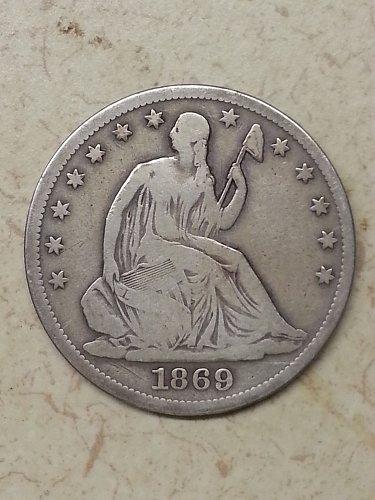 1869-S Seated Liberty Half