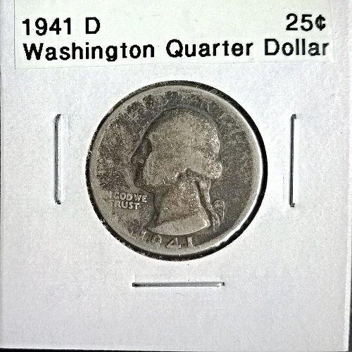 1941 D Washington Quarter Dollar