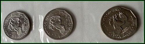 Susan B Anthony 1979 Dollar Souvenir Set: 3 Coins in Original Package