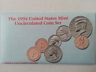 1994 US Mint Uncirculated 10 Coin Mint Set