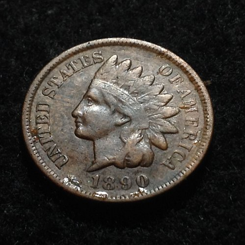 1890 P Indian head cent