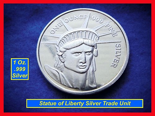 STATUE of LIBERTY  Silver Round   •••  (#9101)