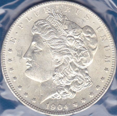 1904 O Morgan Dollar
