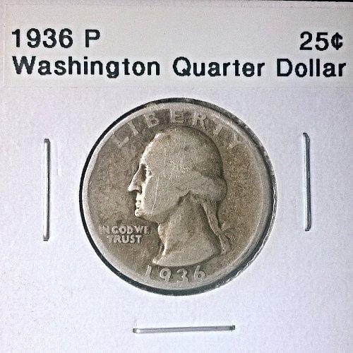 1936 P Washington Quarter Dollar