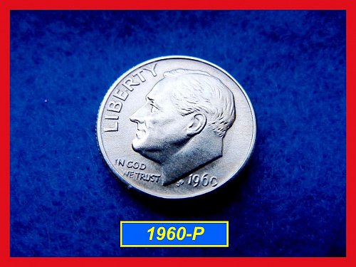 1960-P Silver Roosevelt Dime   (#3365)