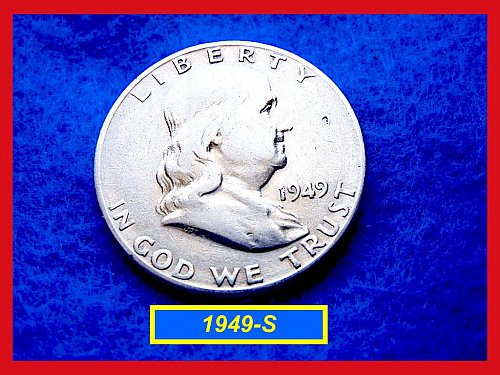 1949-S  Franklin Half Dollars ––– Circulated (#1270)