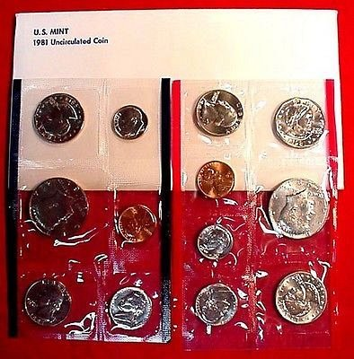 1981 US Mint Uncirculated Coin Set. Has the (3) Susan B. Anthony Dollars.