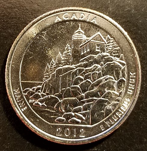 2012-D Acadia ATB Quarter - From Mint Roll (6532)