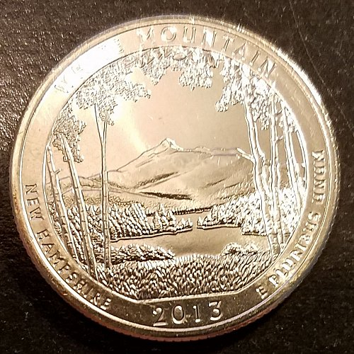 2013-D White Mountain ATB Quarter - From US Mint Roll (6534)