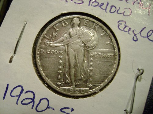 1920-S Standing Liberty Quarter Free Shipping.