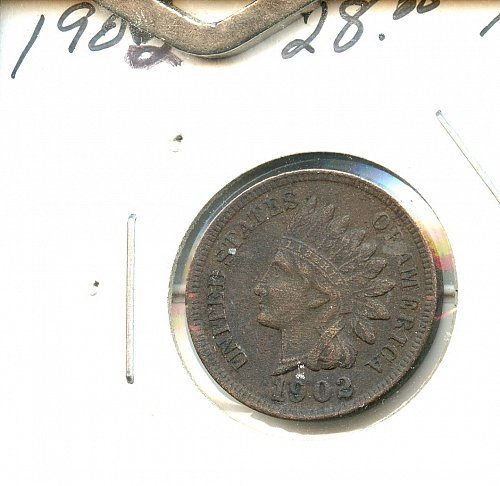 1902 Indian cent with full Liberty and diamonds