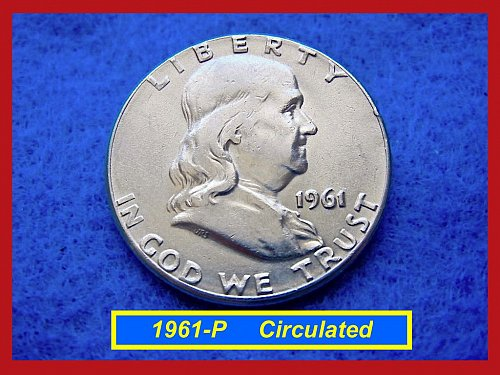 "1961-P Franklin Half Dollar – ""XF-45"" ––   (#1488)"