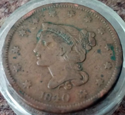 1840 Large Cent Small Date