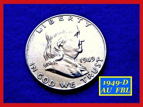 "1949-D  Franklin Half Dollar  –  ""MS-64""  Condition ––– (#1487)"