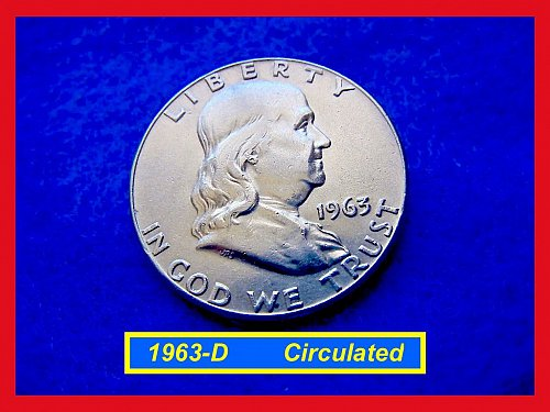 1963-D  Franklin Half Dollar –––  CIRCULATED (#1489)