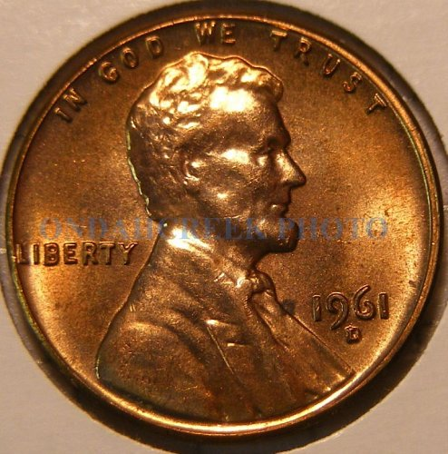 1961-D Lincoln Cent RPM #12 Choice BU Wexler Best of Variety