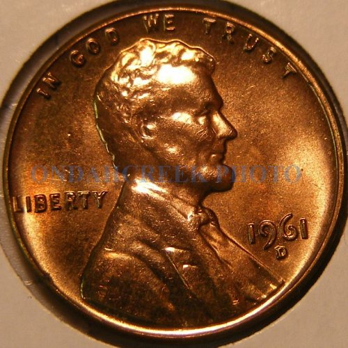 1961-D Lincoln Cent RPM #12 Choice BU Plus Wexler Best of Variety