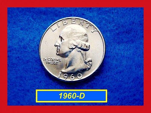 1960-D Mint State Washington SILVER Quarter  ••  (#2350)