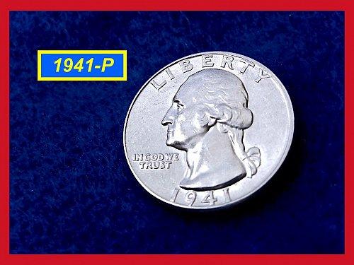 "1941-P Washington Quarter ⭕️ ""AU-53 Condition""  (#2286)"