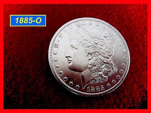 "1885-O Morgan Dollar ••• Strong Design Details  •• ""AU-55""  (#5248)"