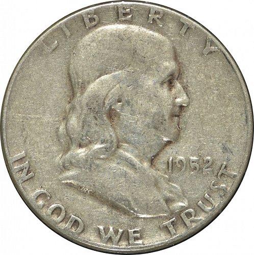 1952 Franklin Half Dollar, (Item 316)