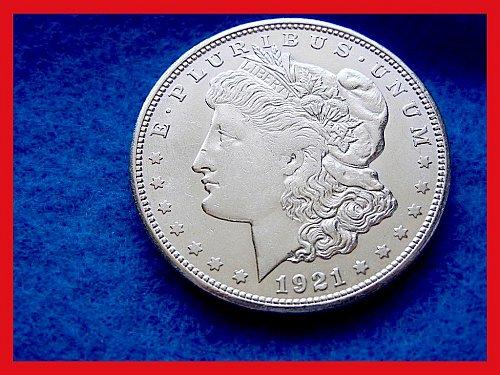 """1921-S Morgan Silver Dollar •••  """"AU-53"""" •••  (#5267)"""
