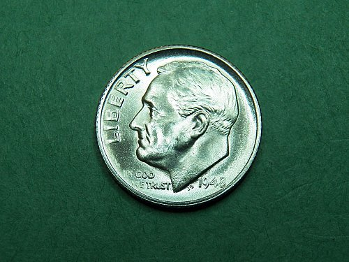 1948 S Roosevelt Dime Gem Uncirculated Coin   i02