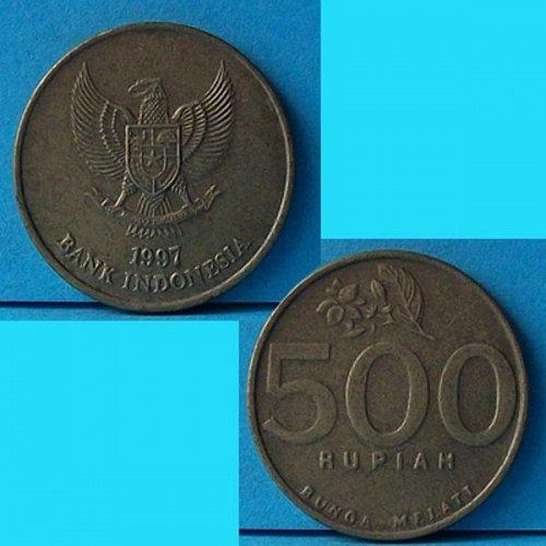 Indonesia 500 Rupiah 1997 km 59