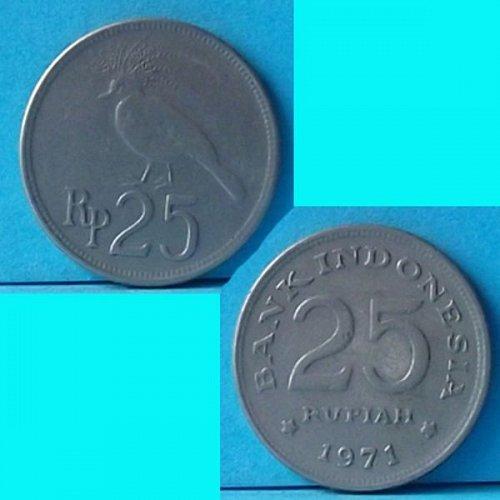 Indonesia 25 Rupiah 1971 km 34