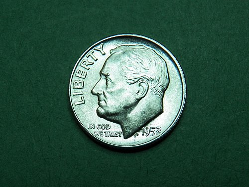 1952 D Roosevelt Dime Brilliant Uncirculated Coin   i03
