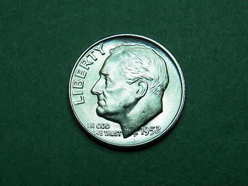 1952 D Roosevelt Dime Brilliant Uncirculated Coin   i03