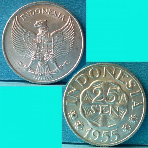 Indonesia 25 Sen 1955 km 11