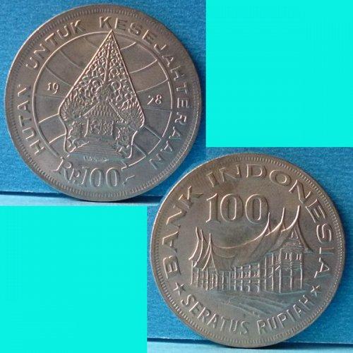 Indonesia 100 Rupiah 1978 km 42