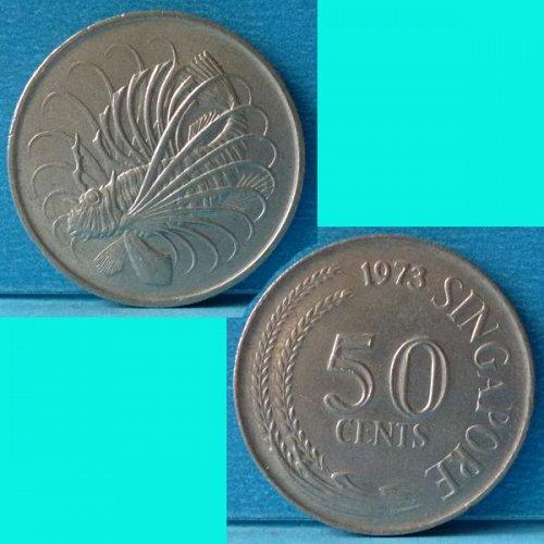 Singapore 50 Cents 1973 km 5