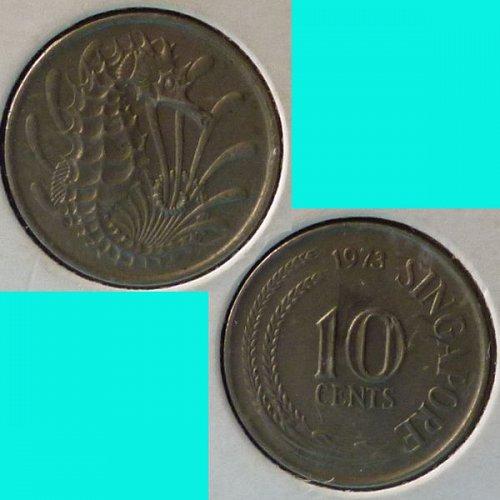 Singapore 10 Cents 1973 km 3