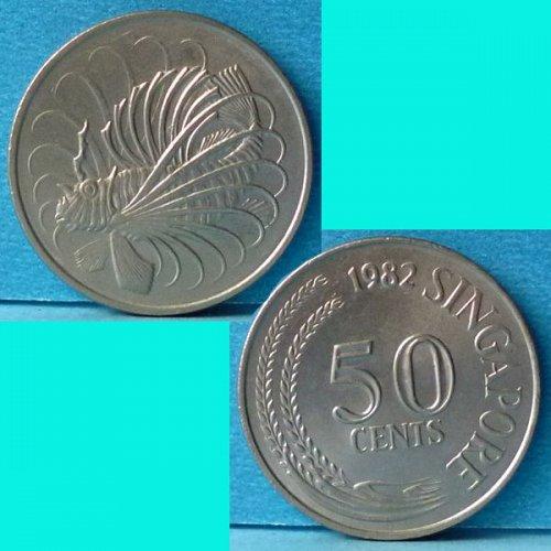Singapore 50 Cents 1982 km 5