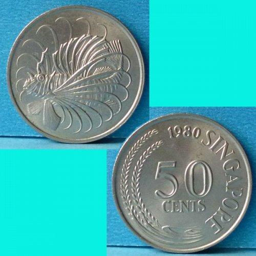 Singapore 50 Cents 1980 km 5
