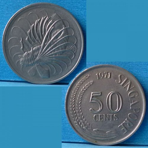 Singapore 50 Cents 1971 km 5