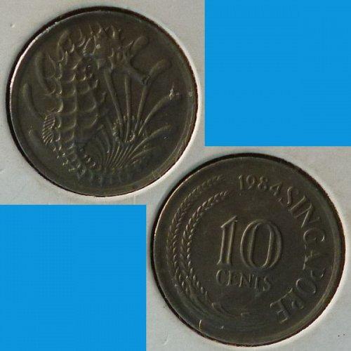 Singapore 10 Cents 1984 km 3