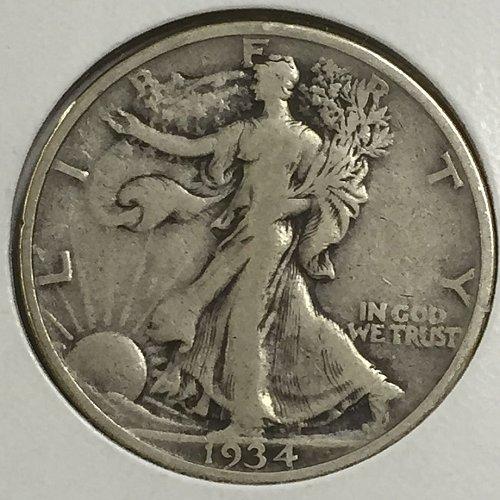 1934-P Walking Liberty Half Dollar (10002)