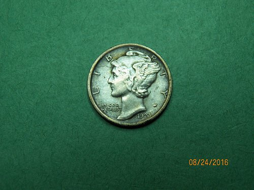 1923 P Mercury Dime Extra Fine Coin   i04