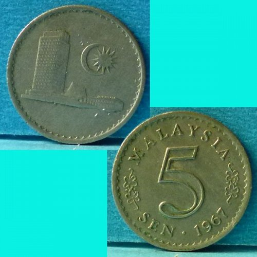 Malaysia 5 Cents 1967 km 2